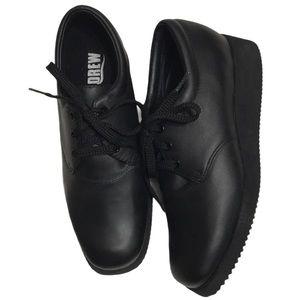 DREW Shoes NWOT Women Black Leather 7.5